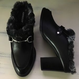 Aerosoles Leather Center City Loafer Mules